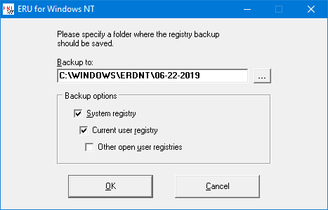 erunt backup backup panj Windows 10 - načrtovalec opravil